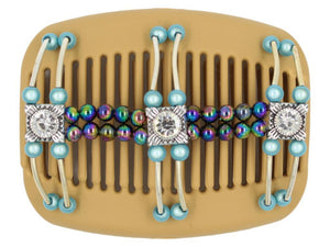 African Butterfly Hair Comb - Flowers Blonde 31