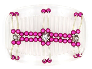 African Butterfly Hair Comb - Flowers Clear 23