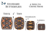 African Butterfly Hair Comb - Flowers Clear 28