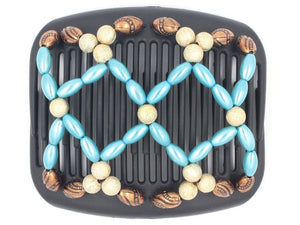 African Butterfly Hair Comb - Ndalena Black 77