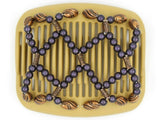 African Butterfly Hair Comb - Ndalena Blonde 41