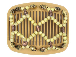 African Butterfly Hair Comb - Ndalena Blonde 71