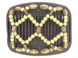 African Butterfly Hair Comb - Ndalena Brown 125