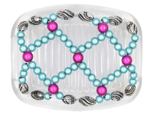 African Butterfly Hair Comb - Ndalena Clear 72