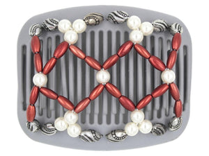 African Butterfly Hair Comb - Ndalena Gray 02