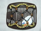 African Butterfly Hair Comb - Ndalena Tube Brown 15