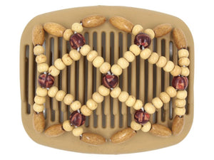 African Butterfly Hair Comb - Ndebele Blonde 58