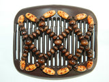 African Butterfly Hair Comb - Ndebele Brown 07