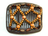 African Butterfly Hair Comb - Ndebele Brown 31