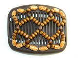 African Butterfly Hair Comb - Ndebele Brown 32