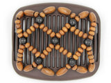 African Butterfly Hair Comb - Ndebele Brown 74