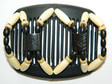 African Butterfly Hair Comb - Stones & Bones Black 30