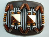 African Butterfly Hair Comb - Stones & Bones Brown 01