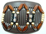 African Butterfly Hair Comb - Stones & Bones Brown 04