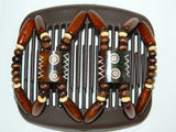 African Butterfly Hair Comb - Stones & Bones Brown 12