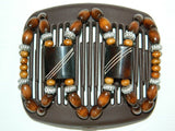 African Butterfly Hair Comb - Stones & Bones Brown 13
