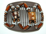 African Butterfly Hair Comb - Stones & Bones Brown 15