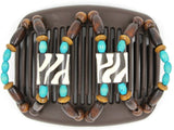 African Butterfly Hair Comb - Stones & Bones Brown 63