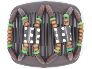 African Butterfly Hair Comb - Stones & Bones Brown 70