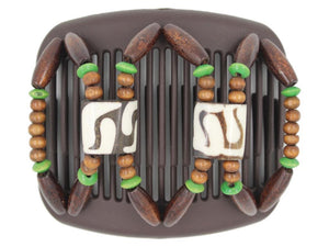 African Butterfly Hair Comb - Stones & Bones Brown 79