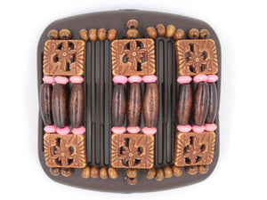African Butterfly Hair Comb - Tripla Brown 30