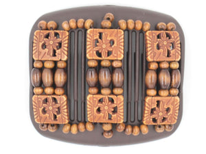 African Butterfly Hair Comb - Tripla Brown 34
