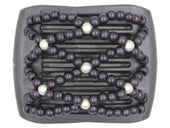 African Butterfly LadyBug Hair Comb - Black Pearl 29