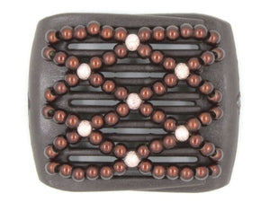 African Butterfly LadyBug Hair Comb - Brown 22