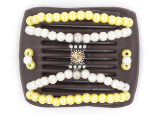 African Butterfly LadyBug Hair Comb - Brown 25