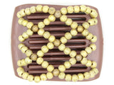 African Butterfly LadyBug Hair Comb - Brown Pearl 19