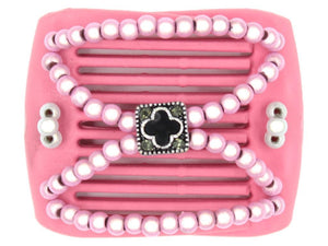 African Butterfly LadyBug Hair Comb - Pink Raspberry 10