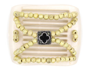 African Butterfly LadyBug Hair Comb - White Pearl 19