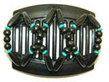 African Butterfly Thick Hair Comb - Beada Black 50