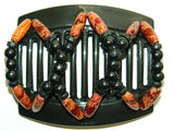 African Butterfly Thick Hair Comb - Beada Black 67