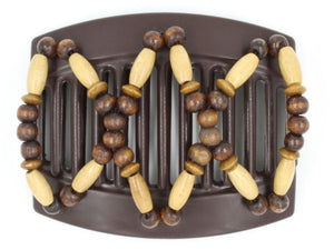 African Butterfly Thick Hair Comb - Beada Brown 126