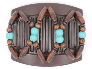 African Butterfly Thick Hair Comb - Beada Brown 127