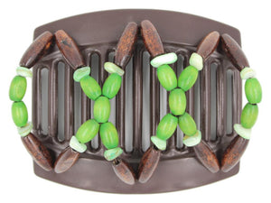 African Butterfly Thick Hair Comb - Beada Brown 176