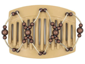 African Butterfly Thick Hair Comb - Beada Tube Blonde 34