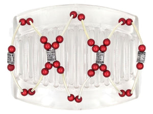 African Butterfly Thick Hair Comb - Beada Tube Clear 35