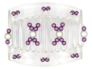 African Butterfly Thick Hair Comb - Beada Tube Clear 36
