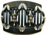 African Butterfly Thick Hair Comb - Dalena Black 62