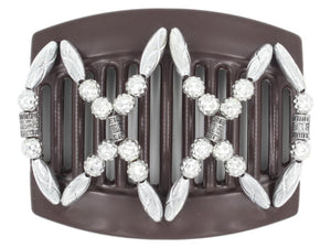 African Butterfly Thick Hair Comb - Dalena Brown 104