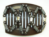 African Butterfly Thick Hair Comb - Dalena Brown 20
