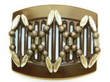 African Butterfly Thick Hair Comb - Dalena Brown 35
