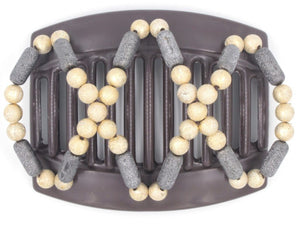 African Butterfly Thick Hair Comb - Dalena Brown 87