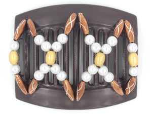 African Butterfly Thick Hair Comb - Dalena Brown 96