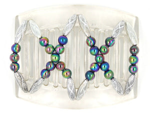 African Butterfly Thick Hair Comb - Dalena Clear 67