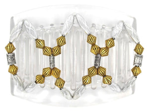 African Butterfly Thick Hair Comb - Dalena Clear 79