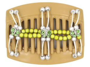 African Butterfly Thick Hair Comb - Flowers Blonde 29