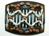 African Butterfly Thick Hair Comb - Ndalena Black 37